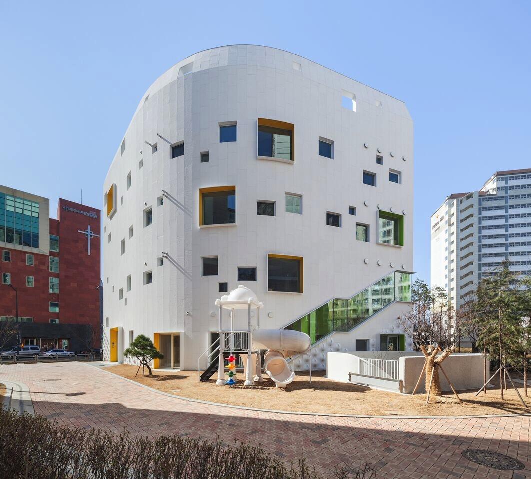 Kinder Garden: NEW KINDERGARTEN ARCHITECTURE IN SEOUL: FLOWER
